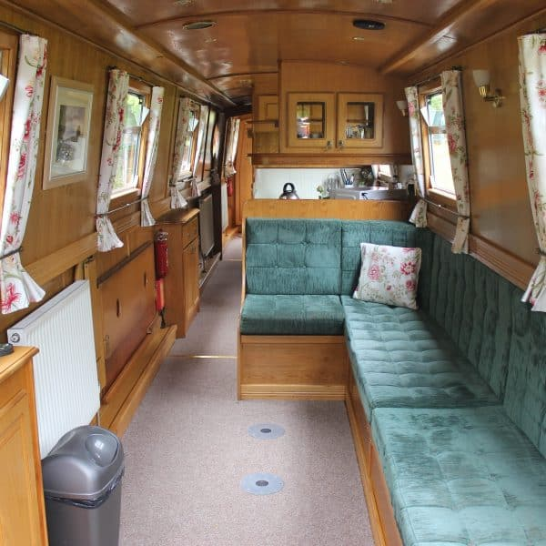 Looking from the bow deck the front seating area has the option of a dining table or double bed