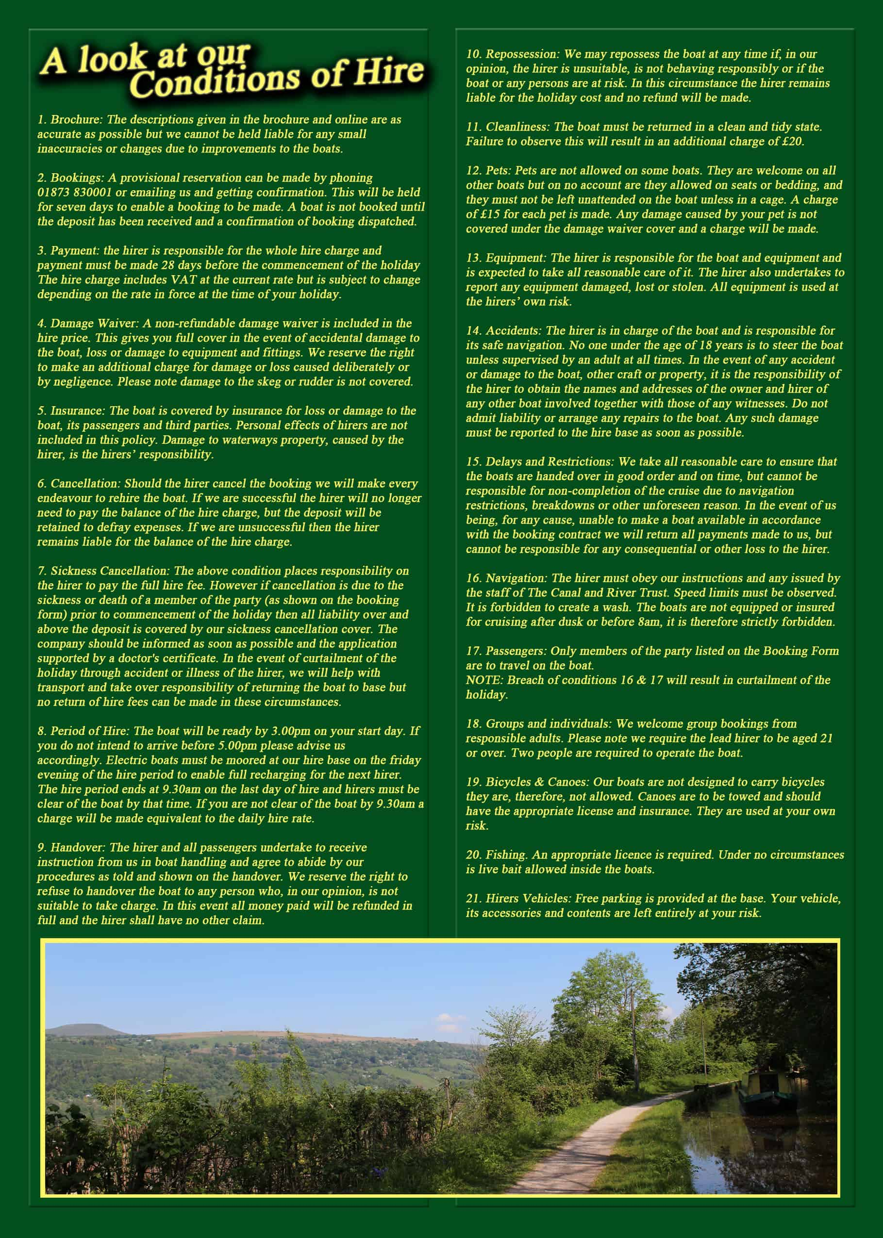 Brochure - Canal Holiday Wales