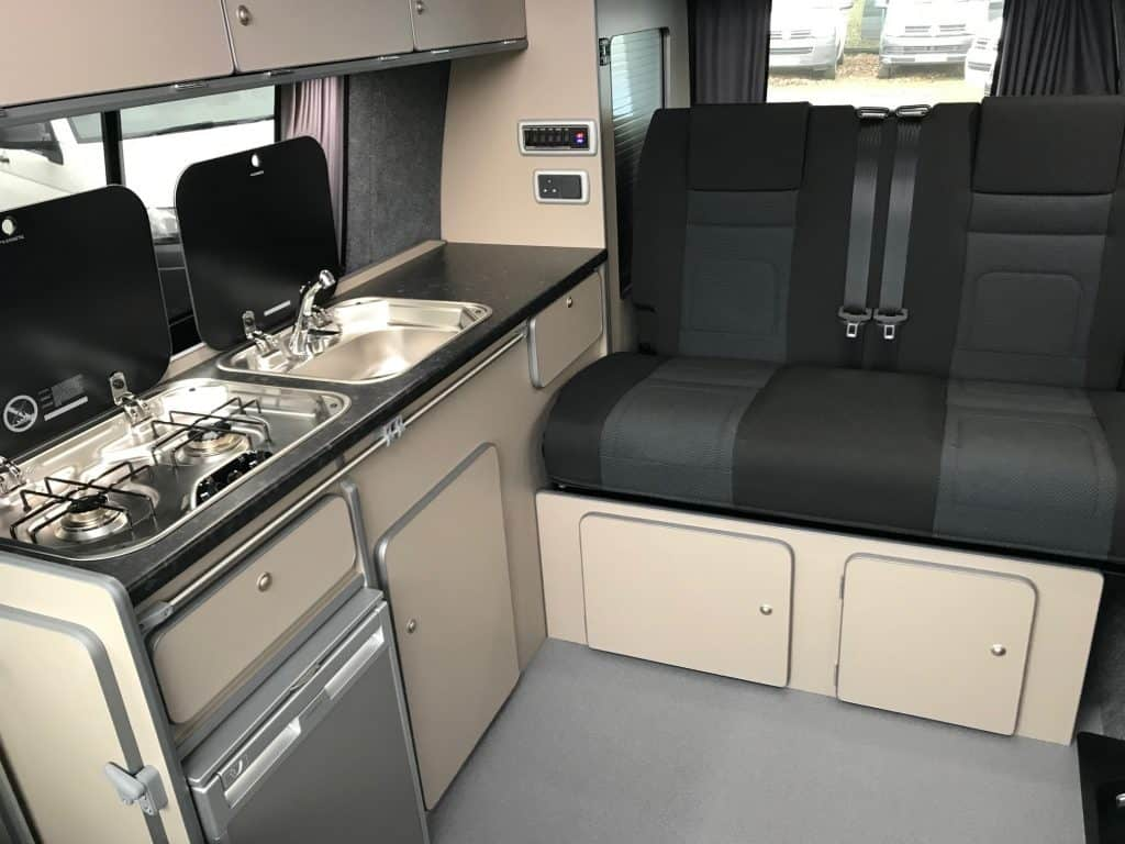 Campervan interior seats